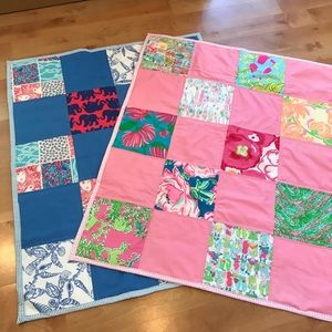 Other - Lilly Pulitzer Fabric Baby Blankets